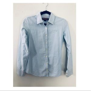 Vineyard Vines Blue and white stripe button down
